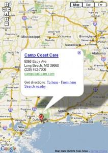 Google Map screenshot of Mississippi