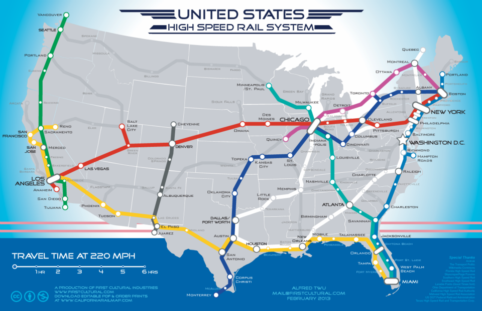 Public Transport Sustainable Transportation - Map of us trail lines