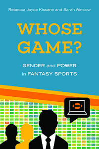 """The cover of the book 'Whose Game"""" with illlustrations of three faceless people and a computer"""