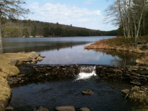 Masonry dam, Lake Champion, Catskills - conversion of potential energy to kinetic energy - submitted by Stacey-Ann Pearson '15