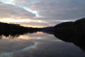 Evening view near Milford NJ