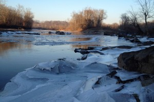 Ice on the river, winter 2015