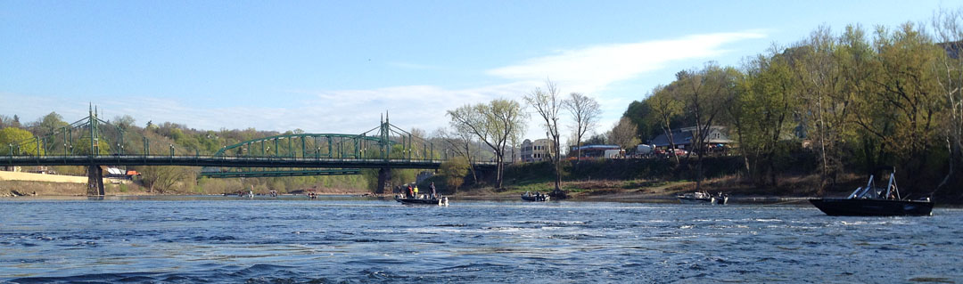 Shad boats on the Delaware in April