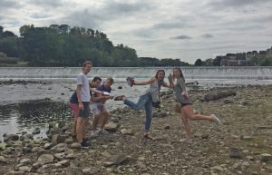 CE juniors doing some kind of rain dance in front of a dam that is experiencing hydrostatic pressure forces - submitted by