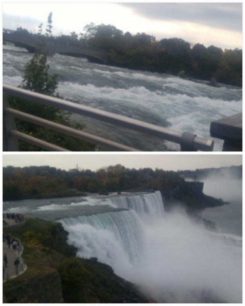 The Niagara River and Niagara Falls, Oct 9, 2016. Avg flow is about 20,000 cfs  - submitted by Jenna Didio
