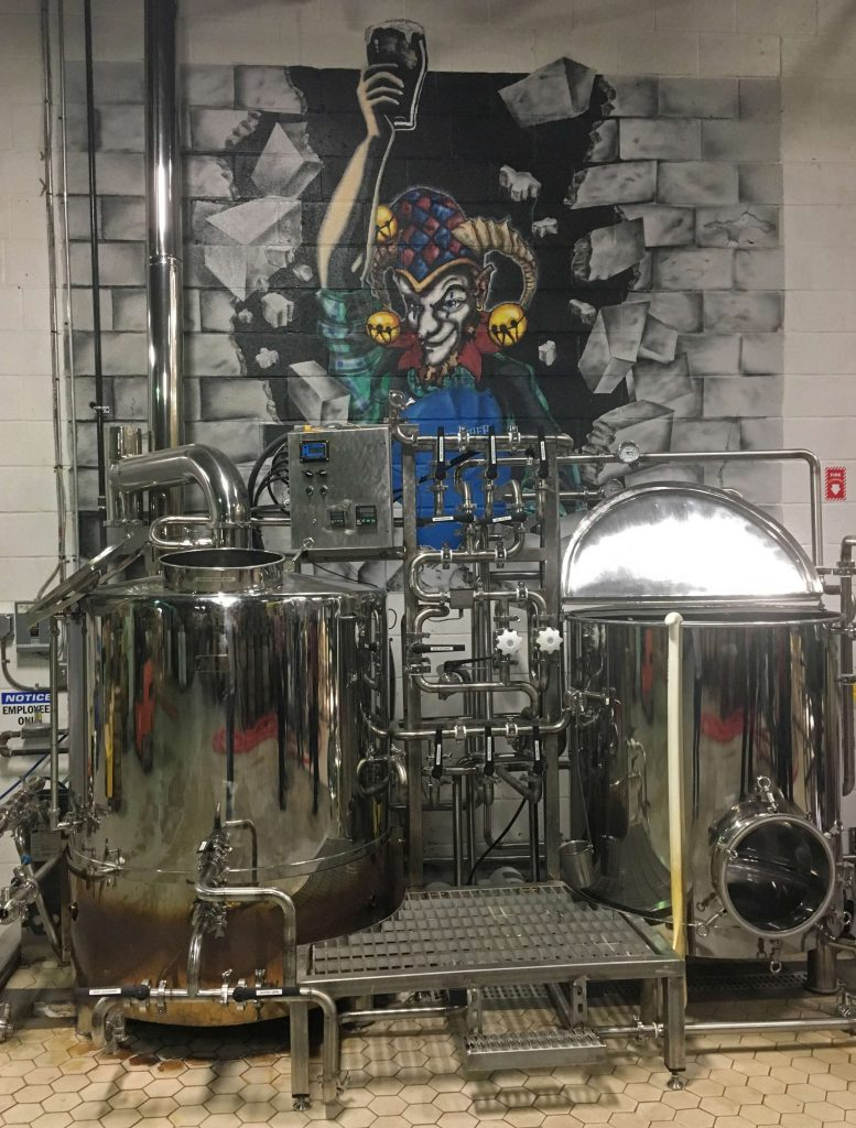 Experimental brewing system at Weyerbacher brewery in Easton - pipes, valves, pumps, gages, controls...the works. Submitted by Jack Hillman