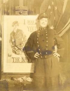30:2  Nancy Palmer Christy modeling for a 1917 Navy recruitment poster.