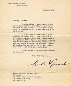 4:24  Franklin D. Roosevelt to Howard Chandler Christy, ALS, March 1942.