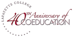 40 years of coeducation at Lafayette College logo
