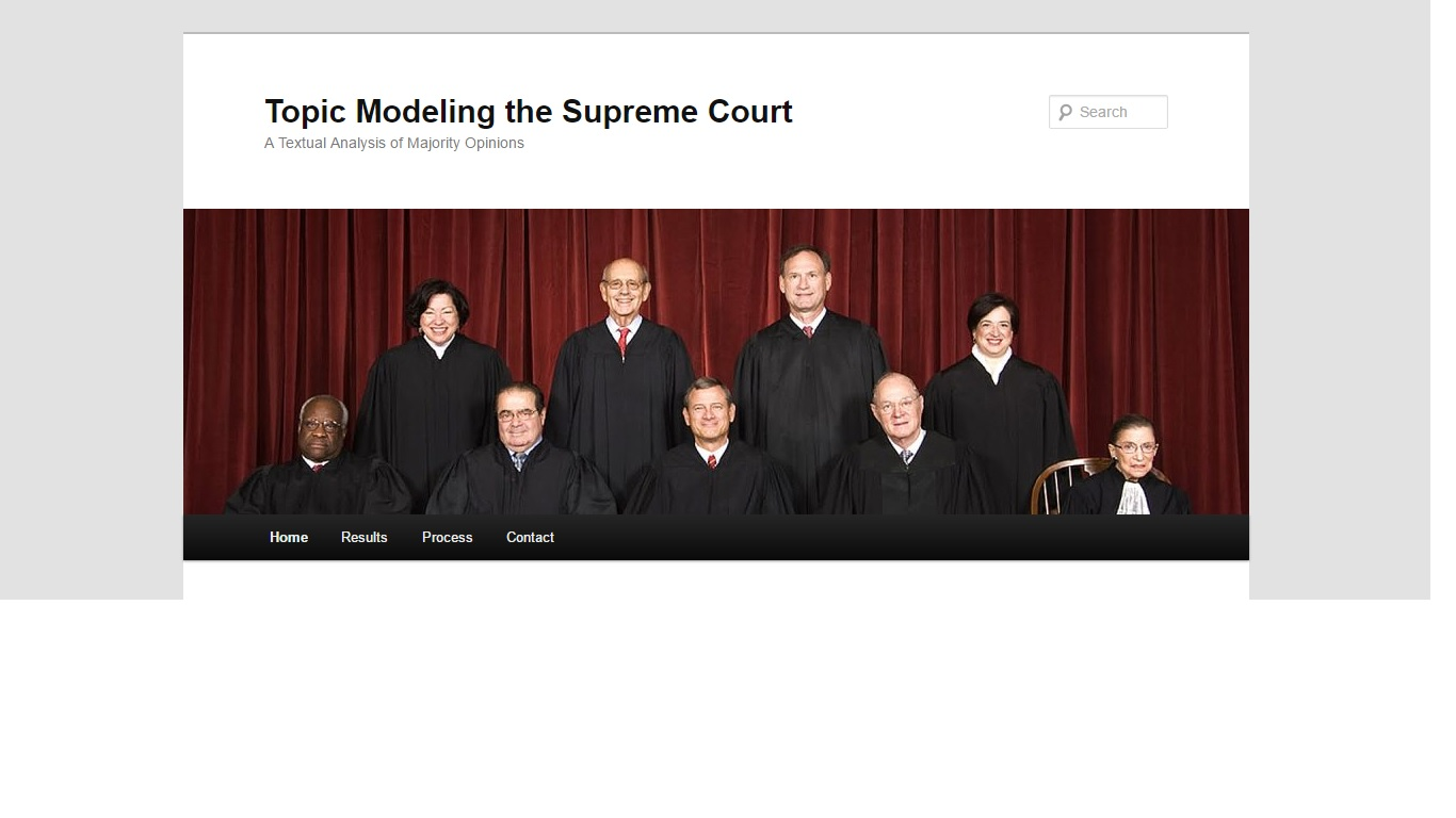 Topic Modeling the Supreme Court
