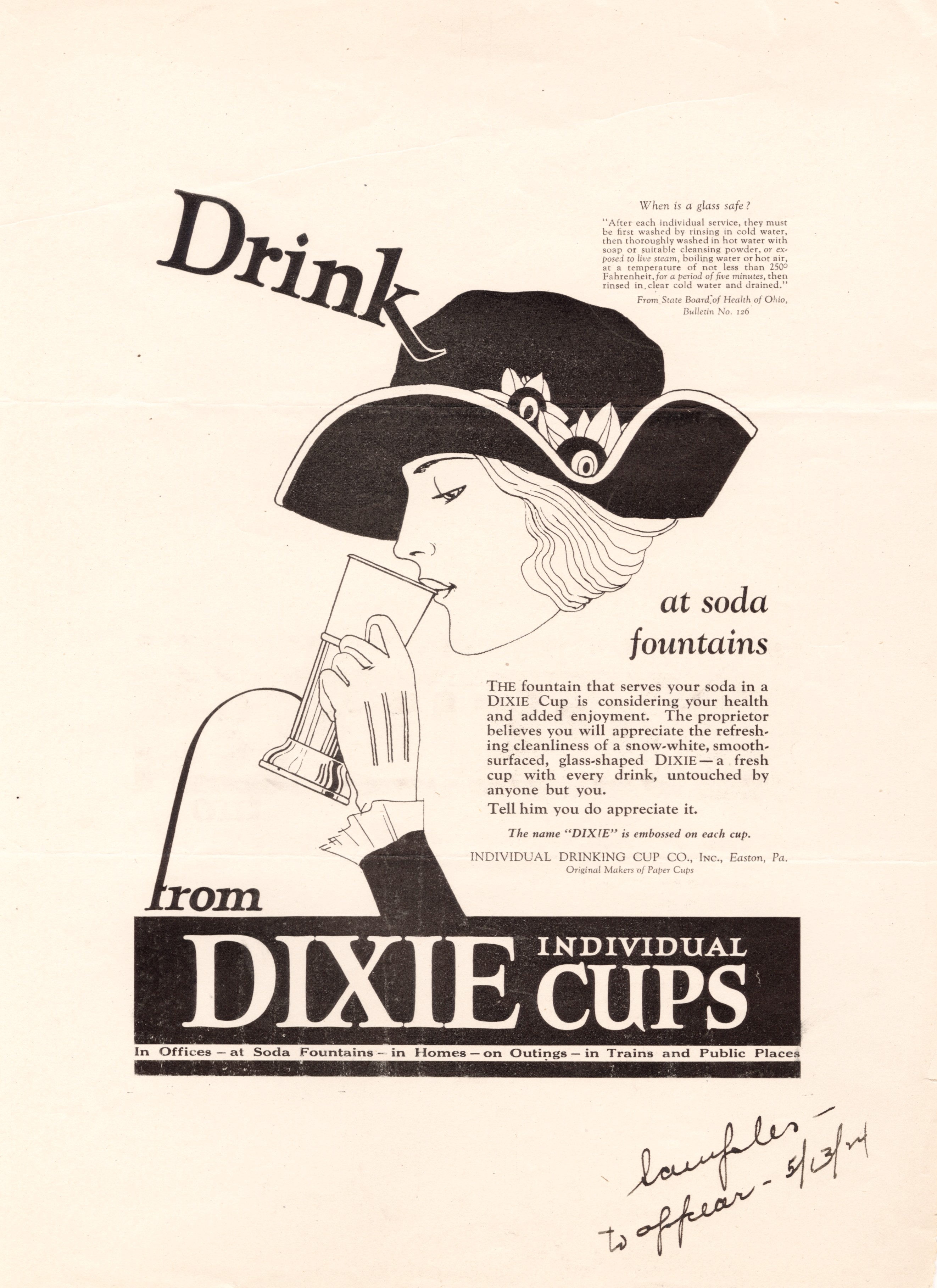 1920s Whistlin Dixie Marketing The Paper Cup 1910 1960