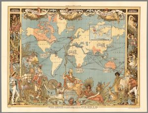 Historic map of the British Empire