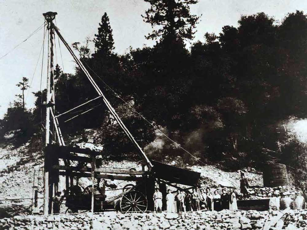 The first successful geothermal well at The Geysers
