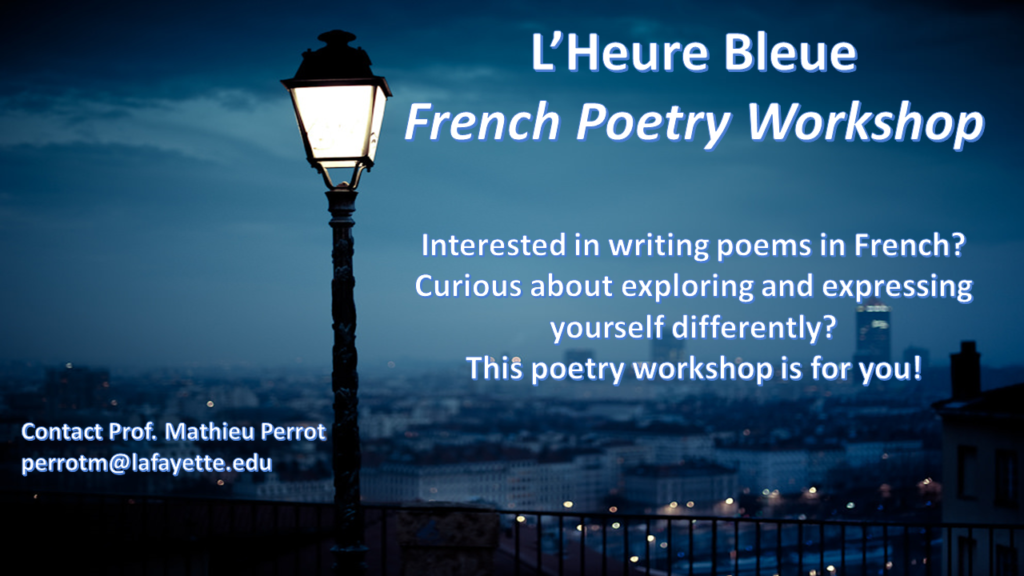 Poster French poetry