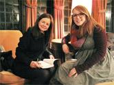 Author Geraldine Brooks and Elizabeth Lucy '15