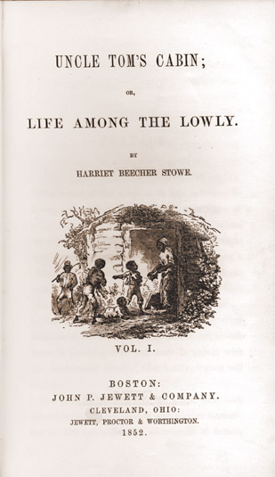 1852 first edition of Uncle Tom's Cabin
