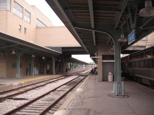 The platforms at Toledo, OH. Photo by Prasenberg.