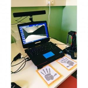 Eye tracker and virutal maze at Universitätsklinikum Erlangen