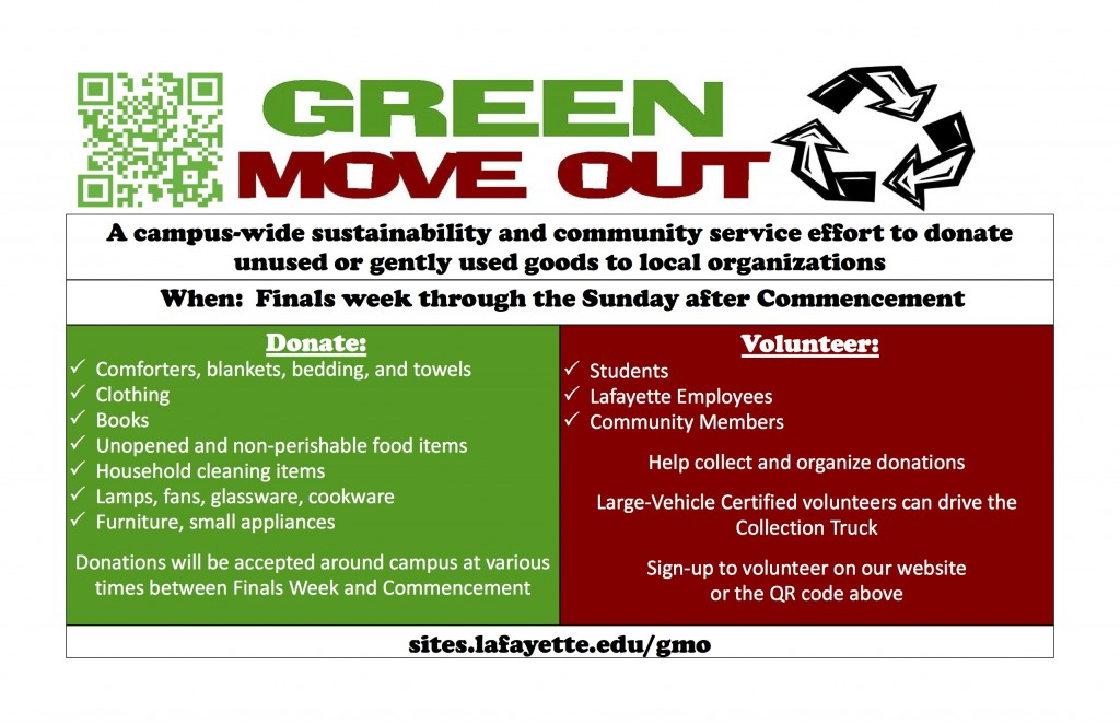 Green Move Out Informational Flyers
