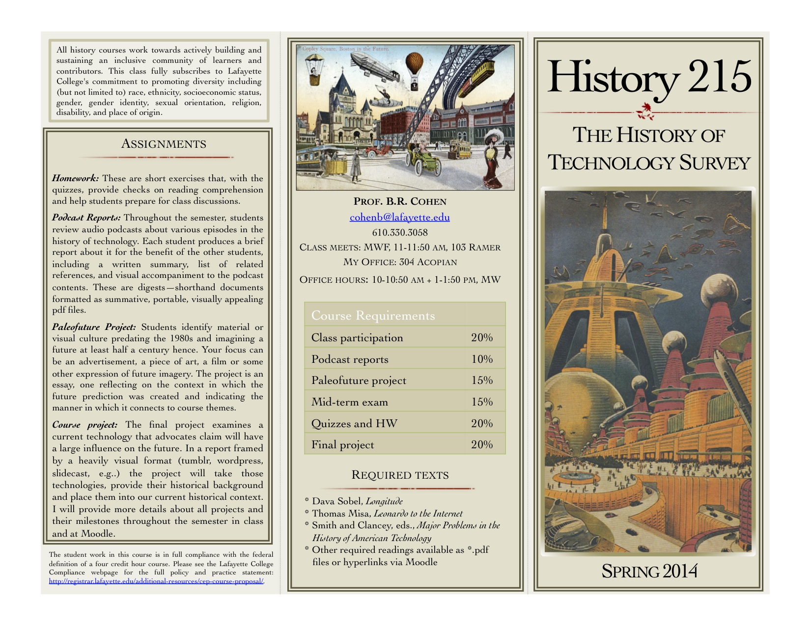 HIST 215 SP14 Course Overview.January