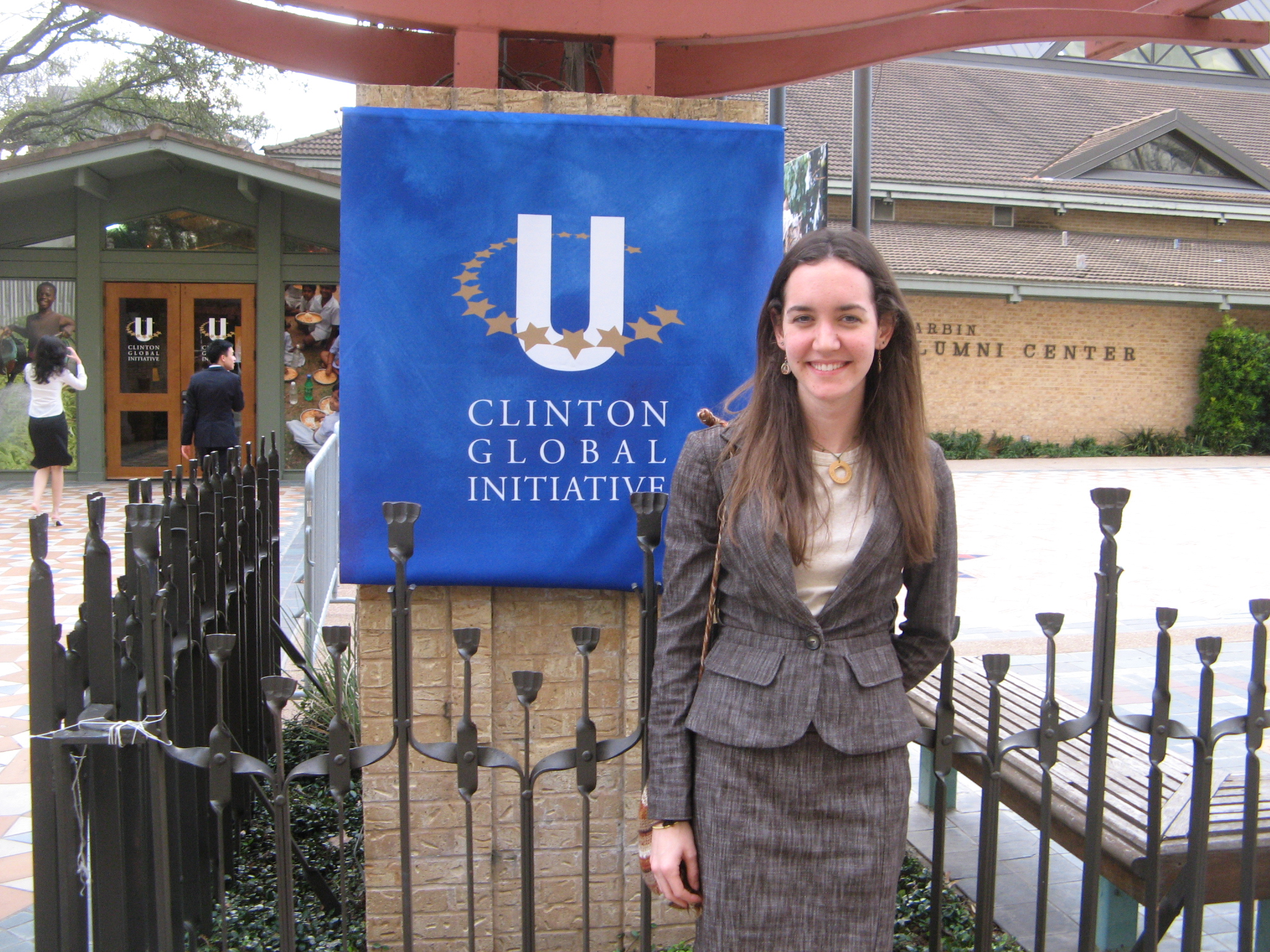 "Students Jenn Bell and Christina Chen attended this conference because the garden project received a Clinton Global Initiative Outstanding Commitment Award, which has provided us with funding. The conference was a gathering of college and university students from all over the world, who have made ""commitments"" to various projects."