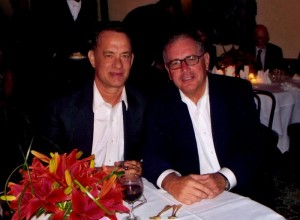 Miller with Tom Hanks
