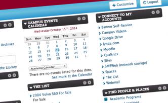 Screenshot of My Lafayette, the college's portal.