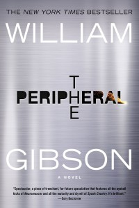 The faux steel book cover for William Gibson's book, The Peripheral.