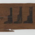 wooden coffin fragement