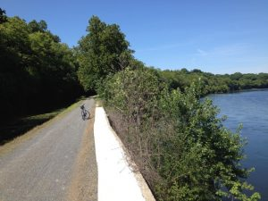 My bike + the Delaware