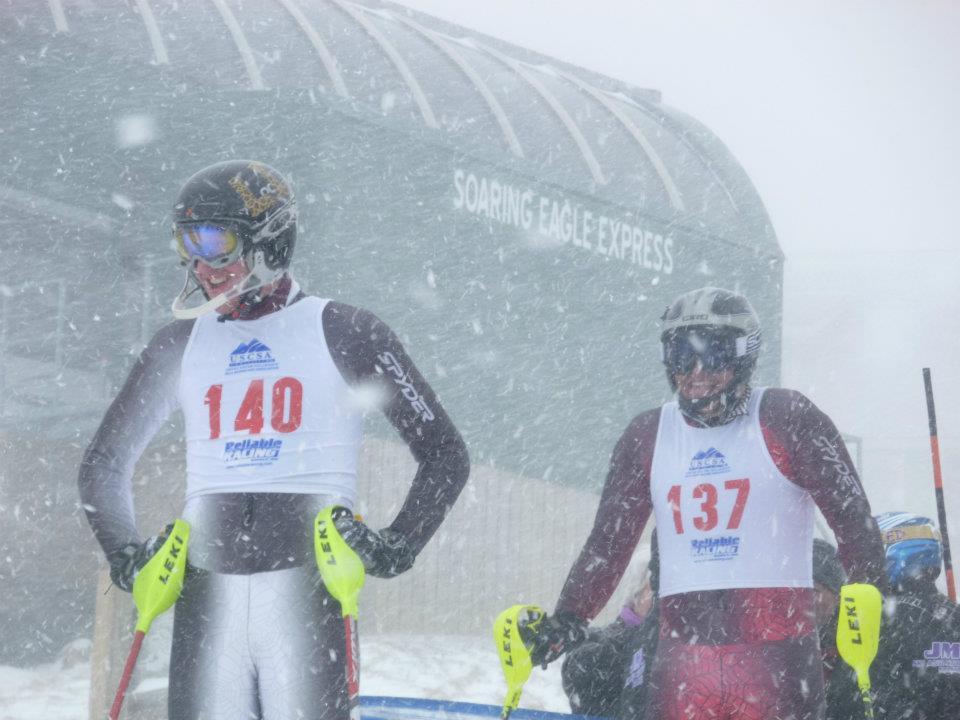 Connor and Matt at Snowshoe