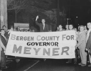 Bob Meyner Campaigning in Bergen County in 1953